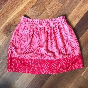 Collective Concepts Pink & Red Print Skirt